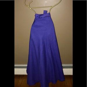 Dresses & Skirts - Purple Linen Wrap Around Skirt One size.